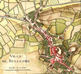 Bellême Plan de Bellesme en 1744